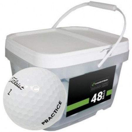 48 Titleist Pro V1 2018 PGA Tour Players Practice Bucket