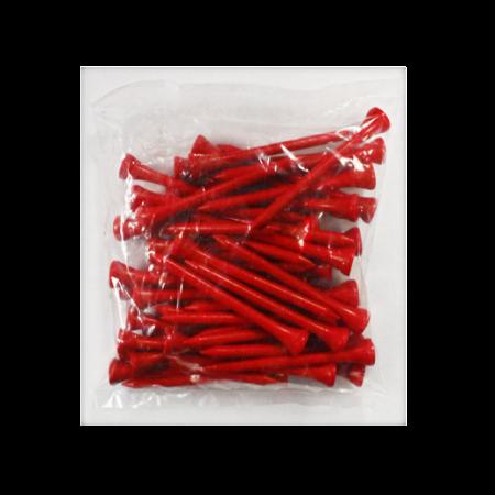 2 3/4 Wood Tees-50 Pack-Red