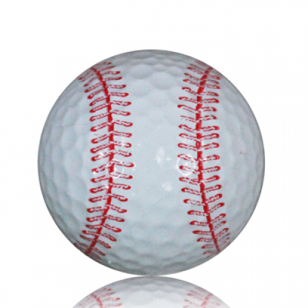 Baseball Print Novelty Golf Balls