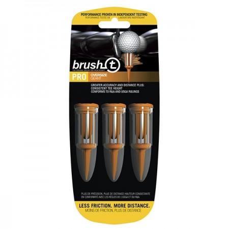 "Brush T Bristle 2.4"" Oversize Golf Tees - Orange - 3 Tees (w/ 3 Ball Markers)"