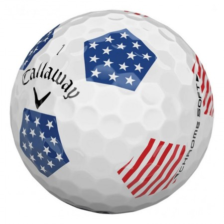 Callaway Chrome Soft Truvis Stars and Stripes - 1 Dozen