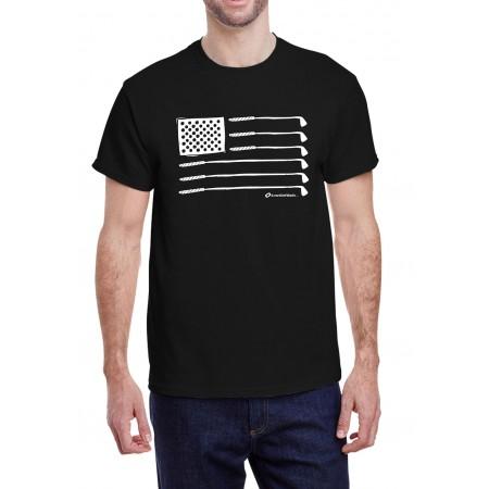 American Flag Crew Neck T-Shirt Black