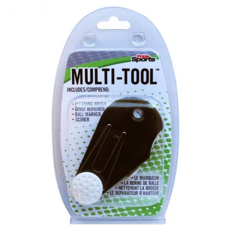 Pride Sports Multi Tool (Cleaning Brush, Divot, Ball Marker, Scorer)