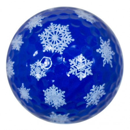 Snowflake Print Novelty Golf Balls