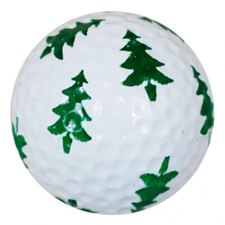 Christmas Tree Print Novelty Golf Balls