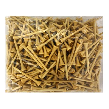 2 3/4 Wood Tees-500 Pack-Natural