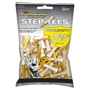 Pride Professional Tee System 2-3/4 Inch ProLength Step Tees - 50 Pack