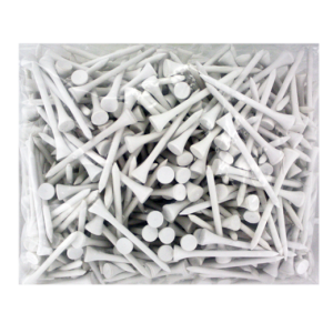 2 3/4 Wood Tees-500 Pack-White