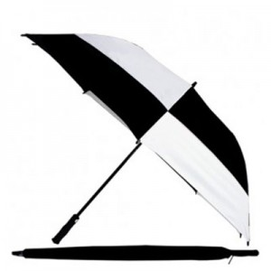 "62"" Wind-Proof Umbrella Black/White"