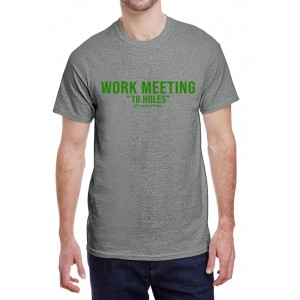 "Work Meeting ""18 Holes"" Men's Crew Neck T-Shirt"
