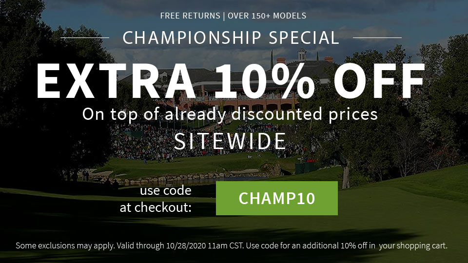 The Championship Special + Extra 10% Off