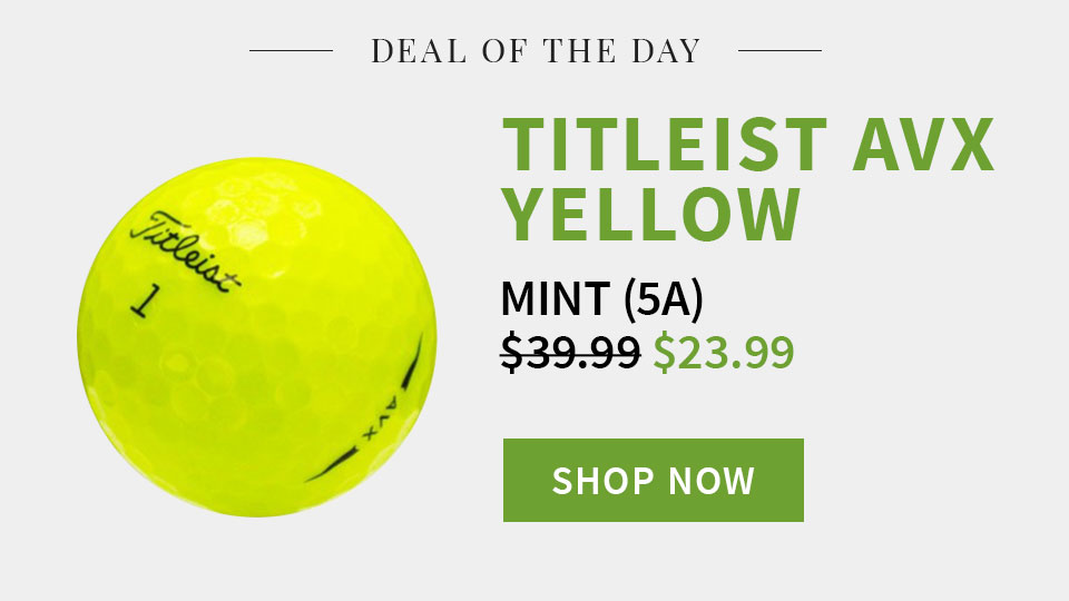 Deal of the Day - Titleist AVX Yellow