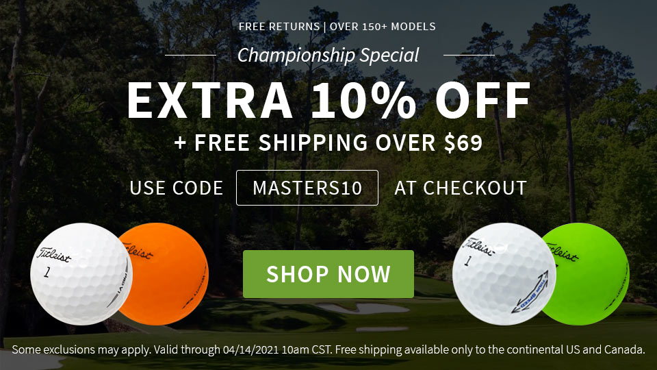 The Masters Championship Special - Extra 10% Off - Code MASTERS10