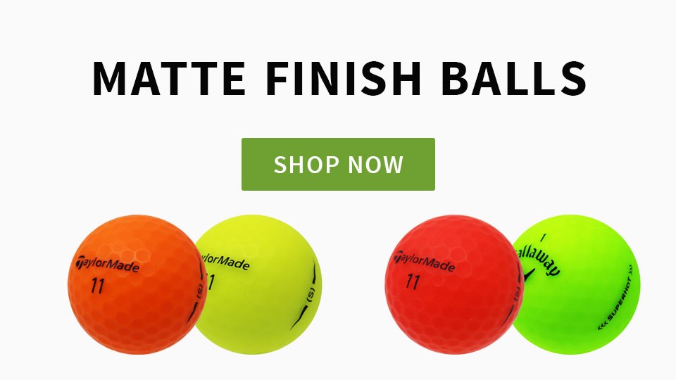 New Matte Finish Golf Balls