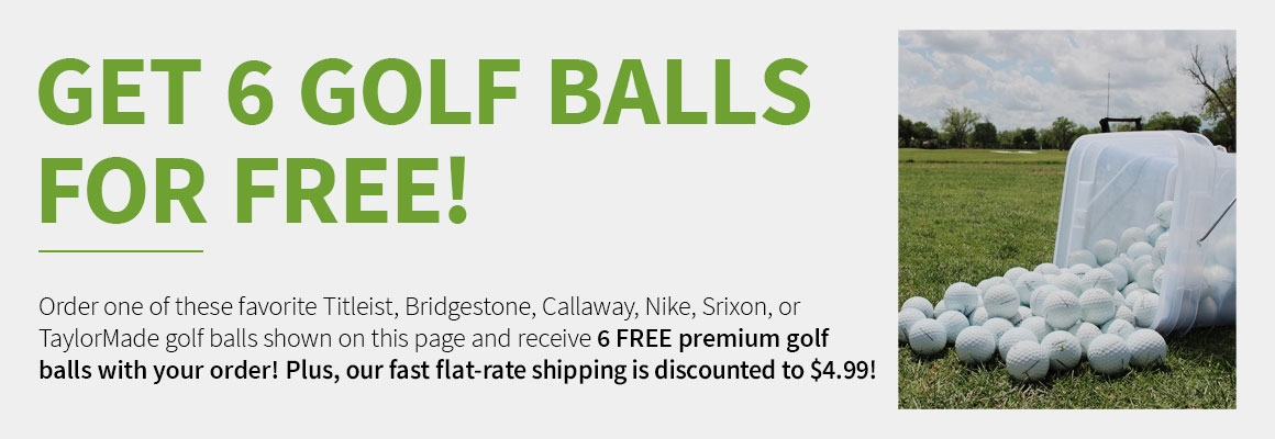 Get 6 Golf Balls For Free!